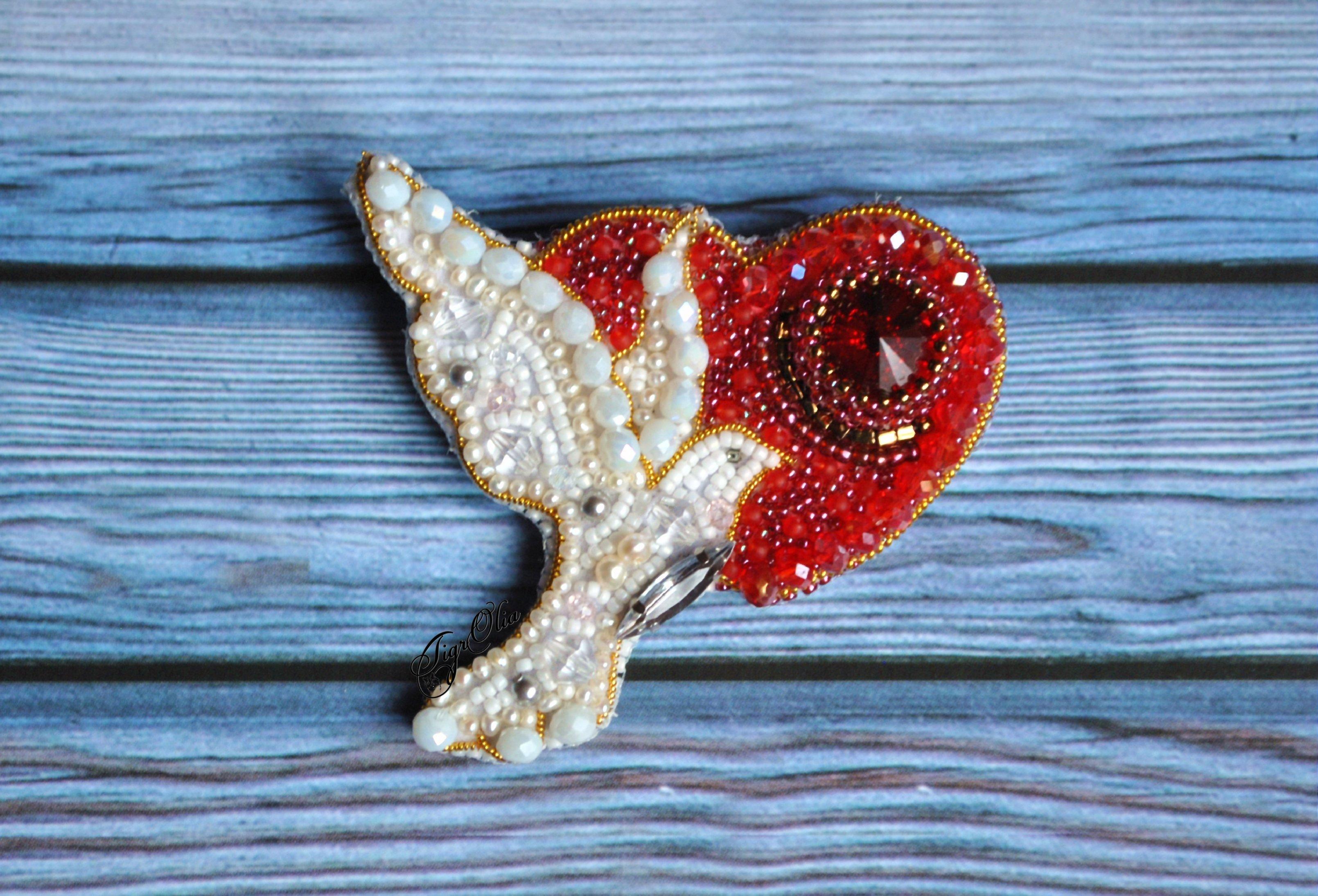 Альбом пользователя TigrOlia: Брошь Любовь и голуби